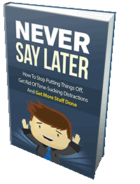 Never Say Later eBook
